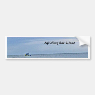 Boat Out At Seas Bumper Stickers