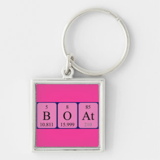 Boat periodic table keyring keychain