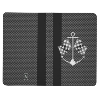 Boat Racing Nautical in Carbon Fiber Style Journal