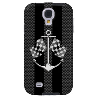 Boat Racing Nautical in Carbon Style Galaxy S4 Case