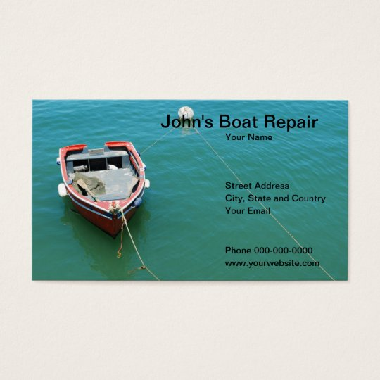 Boat Repair Business Card