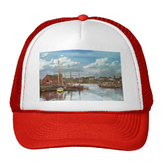 Boat - Rockport Mass - Motif Number One - 1906 Trucker Hat
