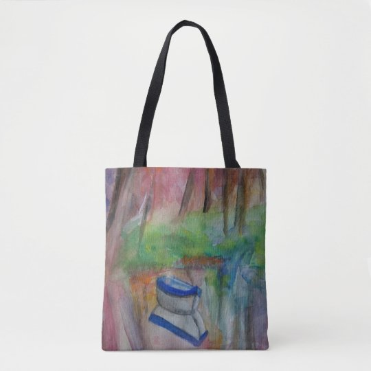 Boat Romantic Watercolor Art Tote
