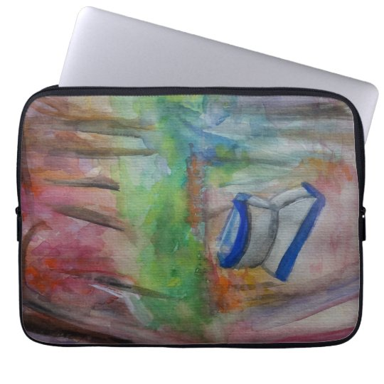 Boat Romantic Watercolor Laptop Sleeve 13""