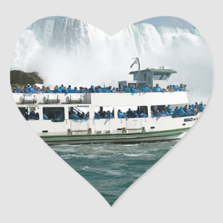 Boat Sail Lake Ontario Niagara River Fallsview fun Heart Sticker
