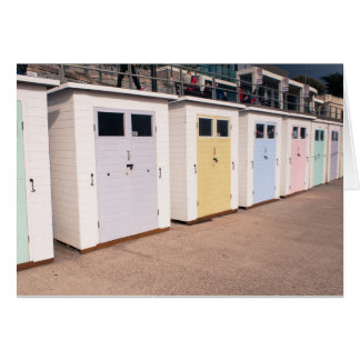 Boat sheds at Lyme Regis, UK Greetings card