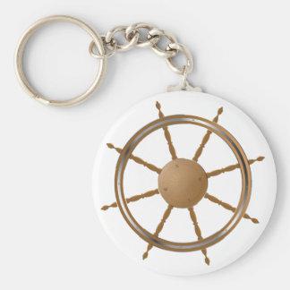 Boat Steering Wheel Keychain