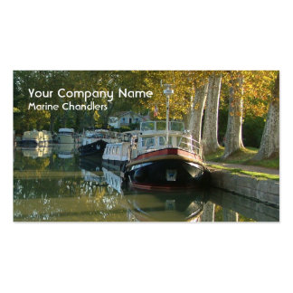 Boat supplies industry business card