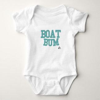 Boat-Teal Baby Bodysuit