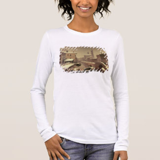 Boat under the Snow Long Sleeve T-Shirt