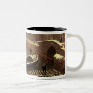 Boat under the Snow Two-Tone Mug