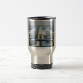 BOAT WAKE....Let's go Fishing! Travel Mug