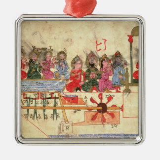 Boat with Automata, illustration Christmas Ornament