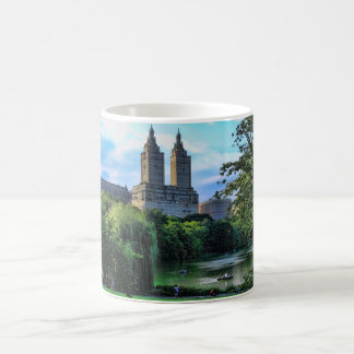 Boaters on the Central Park Lake, San Remo Coffee Mug