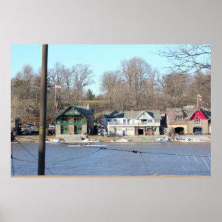 Boathouse Row Daytime Philadelphia Poster