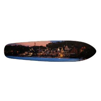Boathouse Row dusk 18.1 Cm Old School Skateboard Deck