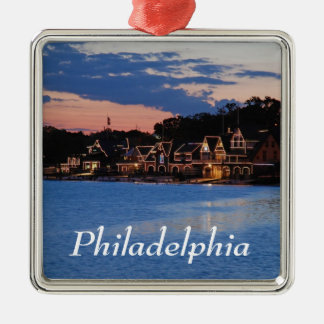 Boathouse Row dusk Christmas Ornament