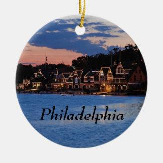 Boathouse Row dusk Christmas Ornament