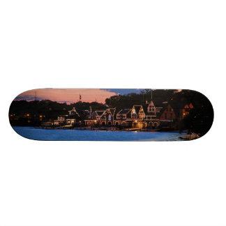 Boathouse Row dusk Skateboard Decks