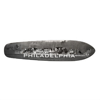 Boathouse Row winter b/w Skate Board