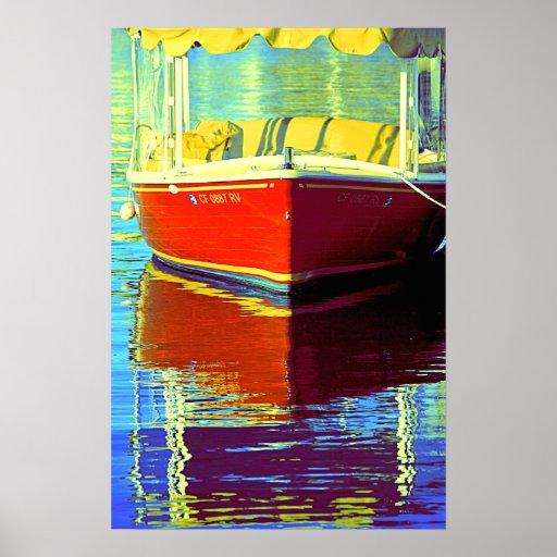 Boatin at Newport  2- Poster
