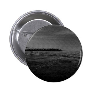 Boating Along the Jetties 6 Cm Round Badge