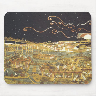 Boating and Fireworks Toyoharu Mousepad