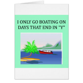 boating and sailing fun card