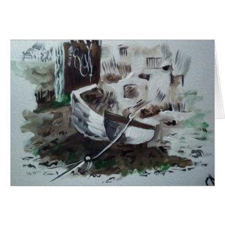 Boating at Sea Card