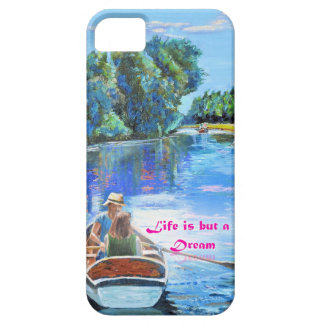 Boating couple on a mobile phone case