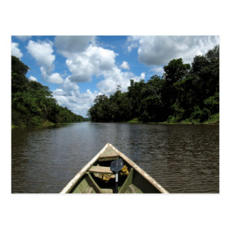 Boating down the Amazon Postcard