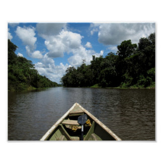 Boating down the Amazon Poster