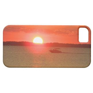 Boating During Sunset iPhone 5 Cover