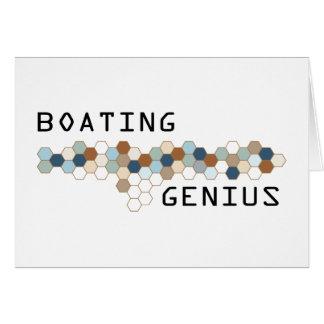 Boating Genius Greeting Card