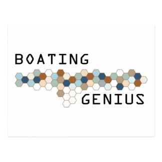 Boating Genius Postcard