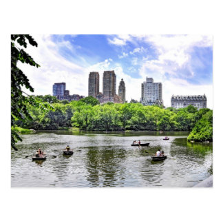Boating in Central Park Postcard