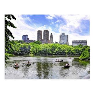 Boating in Central Park Postcard