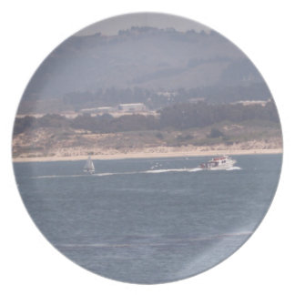 Boating in Monterey Plate