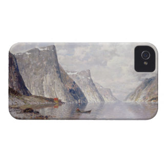 Boating on a Norwegian Fjord (oil on canvas) iPhone 4 Cases