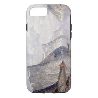 Boating on a Norwegian Fjord (oil on canvas) iPhone 8/7 Case