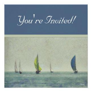 Boating on Lake Michigan Invitations