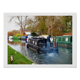 Boating on the Newbury canal Poster