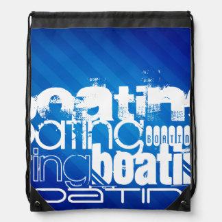 Boating; Royal Blue Stripes Backpack