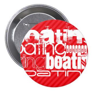 Boating; Scarlet Red Stripes 7.5 Cm Round Badge