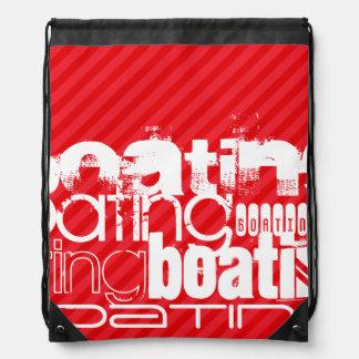 Boating; Scarlet Red Stripes Rucksacks