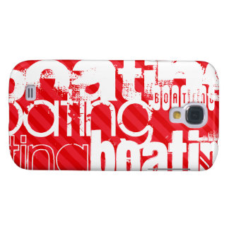 Boating; Scarlet Red Stripes Samsung Galaxy S4 Case