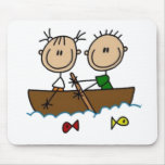 Boating Stick Figures Mouse Pad