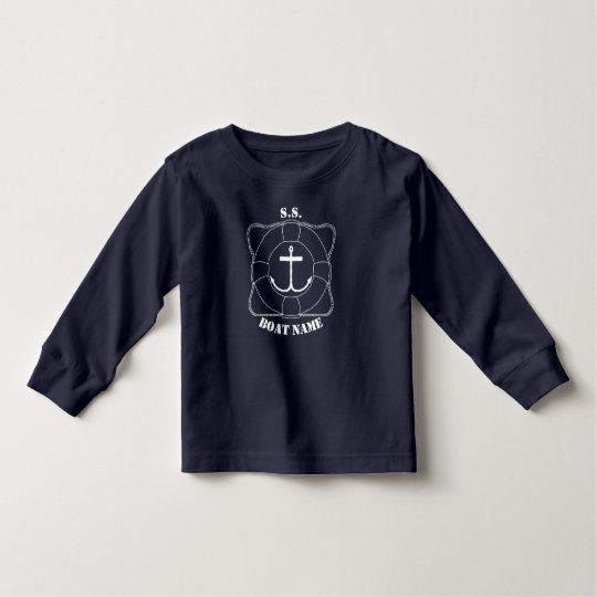 Boating Toddler Long Sleeve T-Shirt (Light Print)