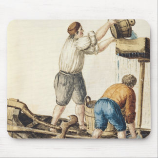 Boatmen Pouring Fresh Water into the Pipelines Mouse Pad