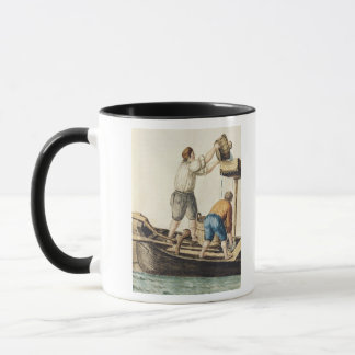 Boatmen Pouring Fresh Water into the Pipelines Mug